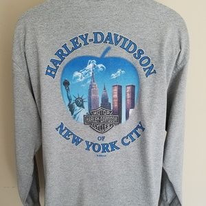 Vtg. 2000 Harley Davidson T Shirt NYC Twin Towers